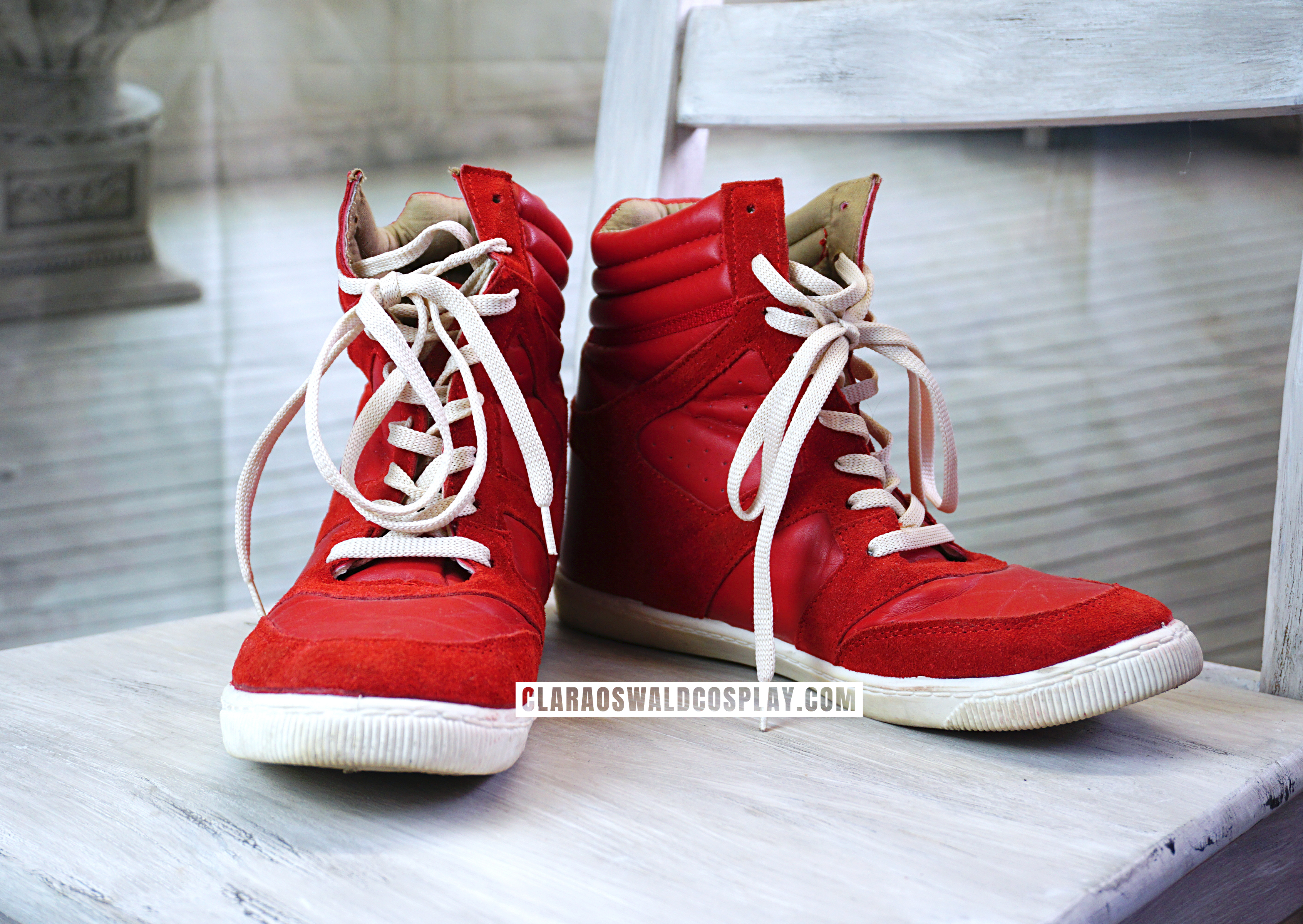 Oswin Oswald's red River Island Wedge Sneakers as worn in Asylum of the Daleks