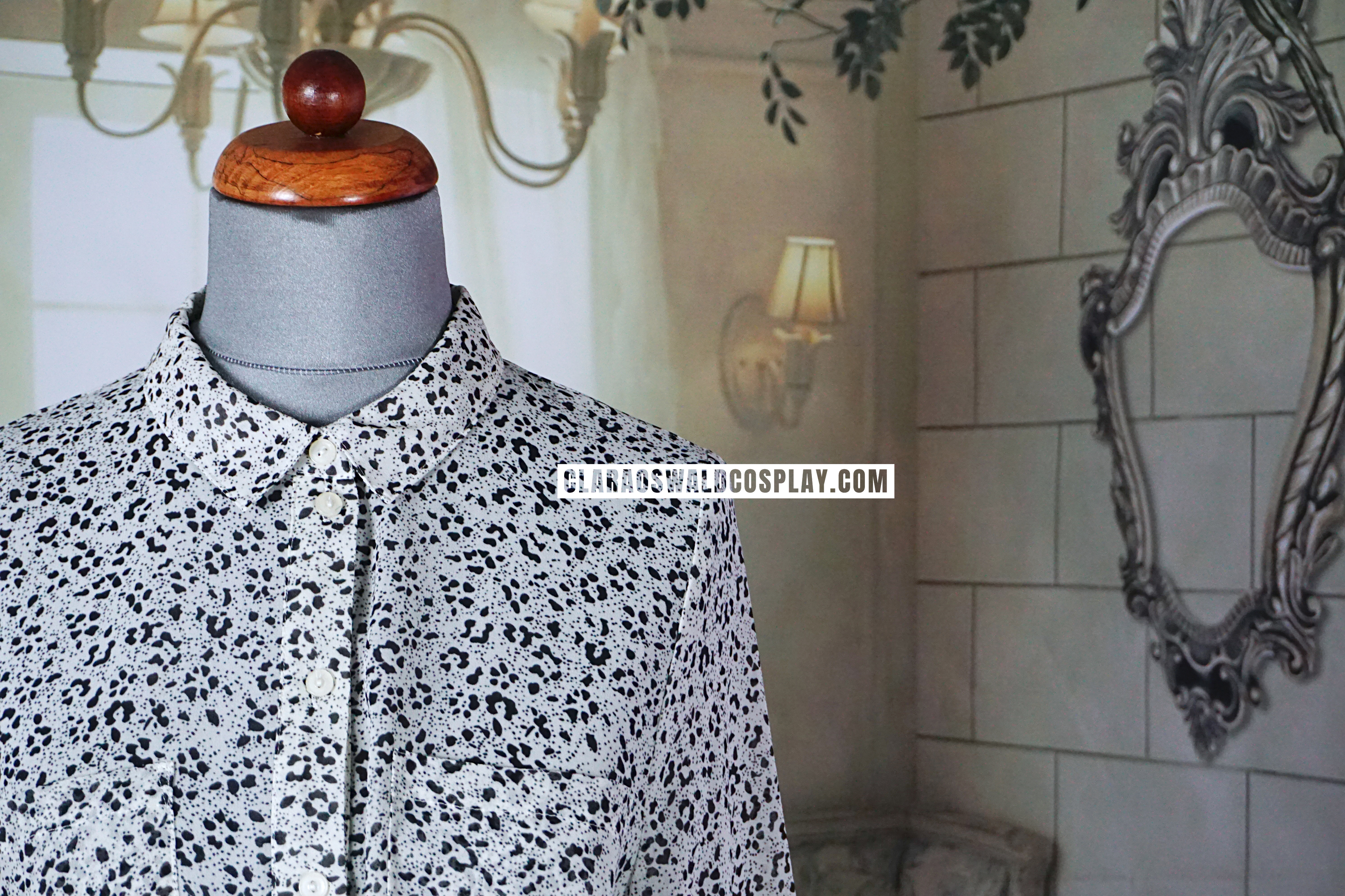 A closer look at the Urban Outfitters Sparkle & Fade Animal Print Blouse