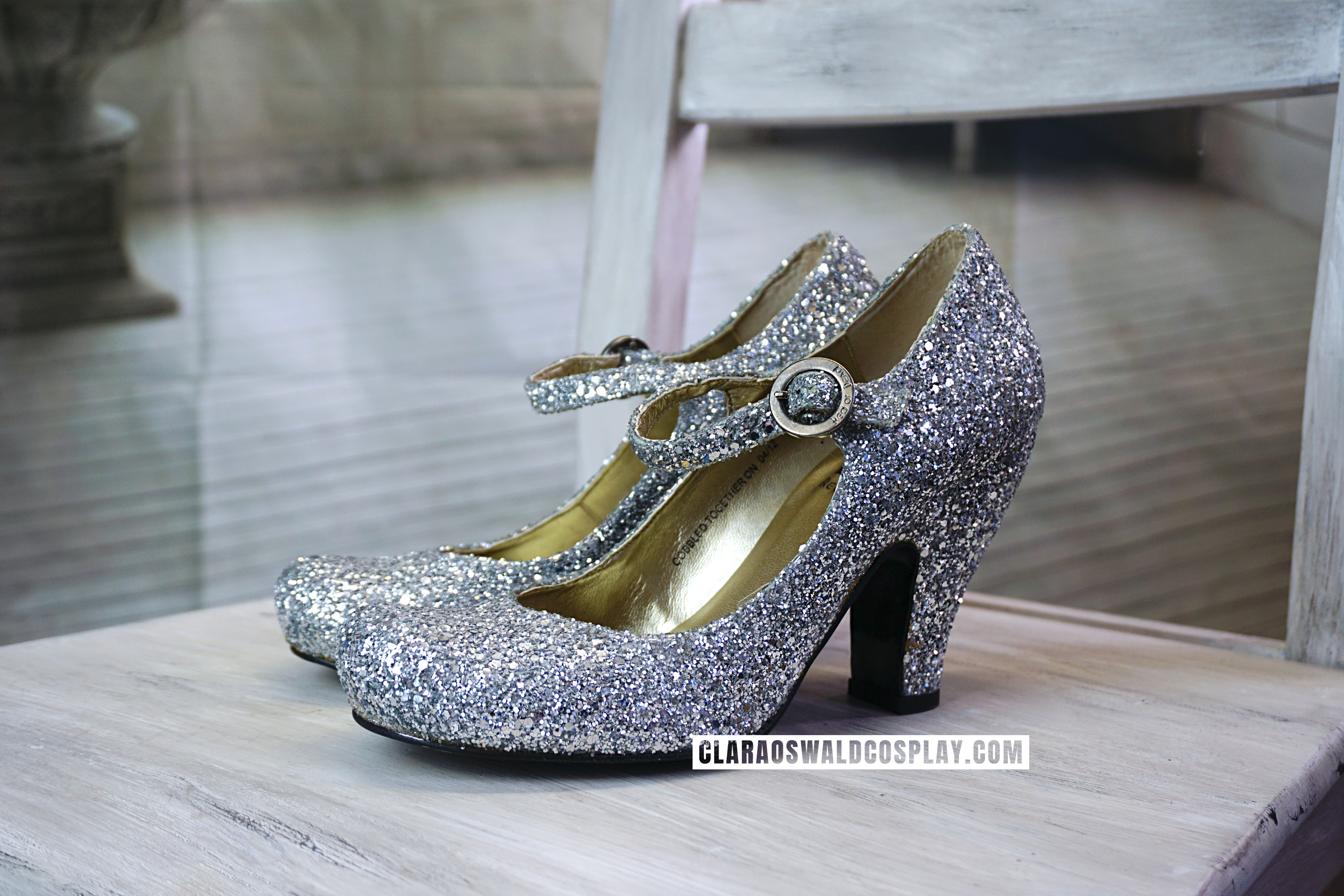 Clara Oswald's Red Or Dead Shirley Glitter Heels as worn in Cold War
