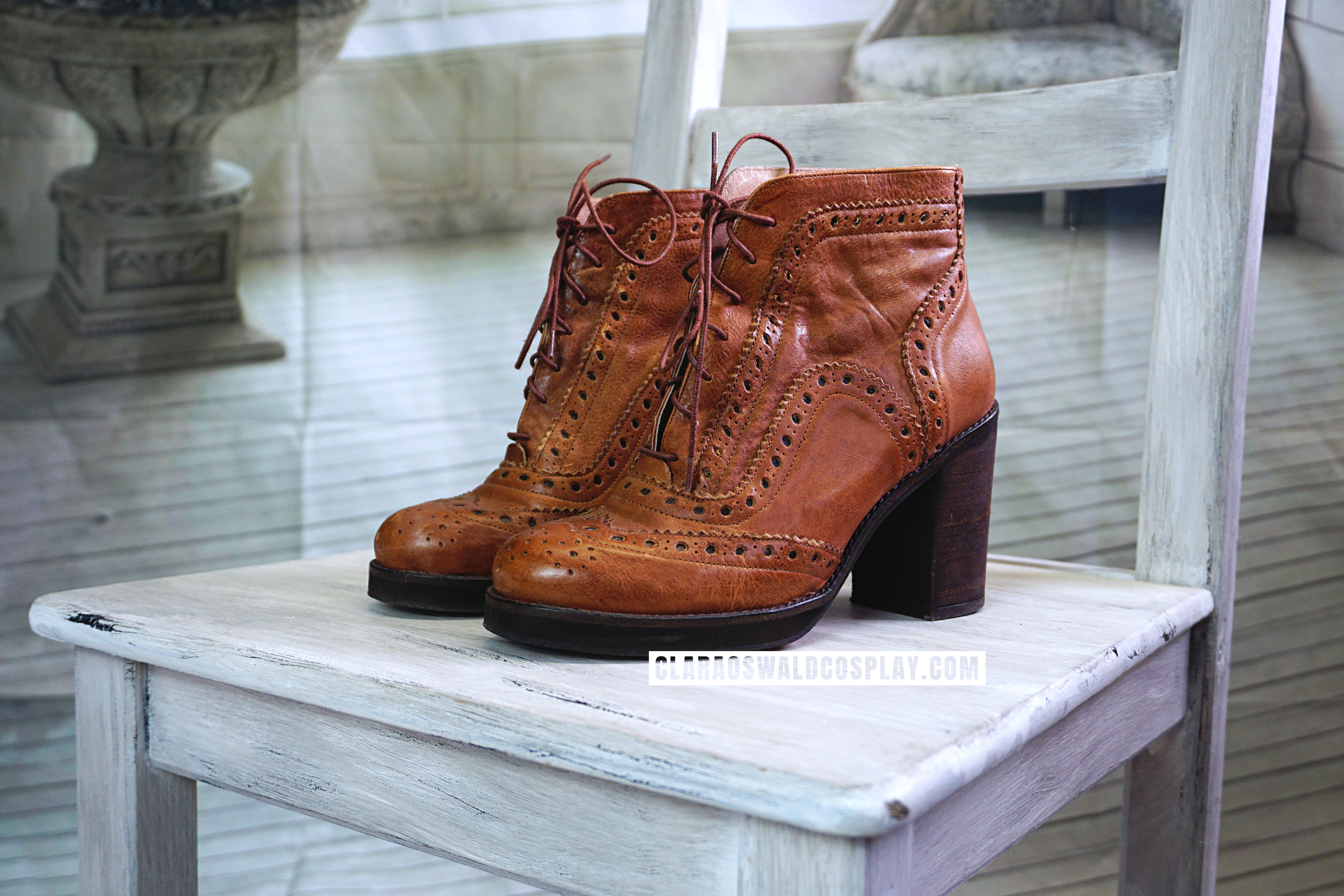 The River Island Brogue Ankle Boots worn by Clara Oswald in Into The Dalek.