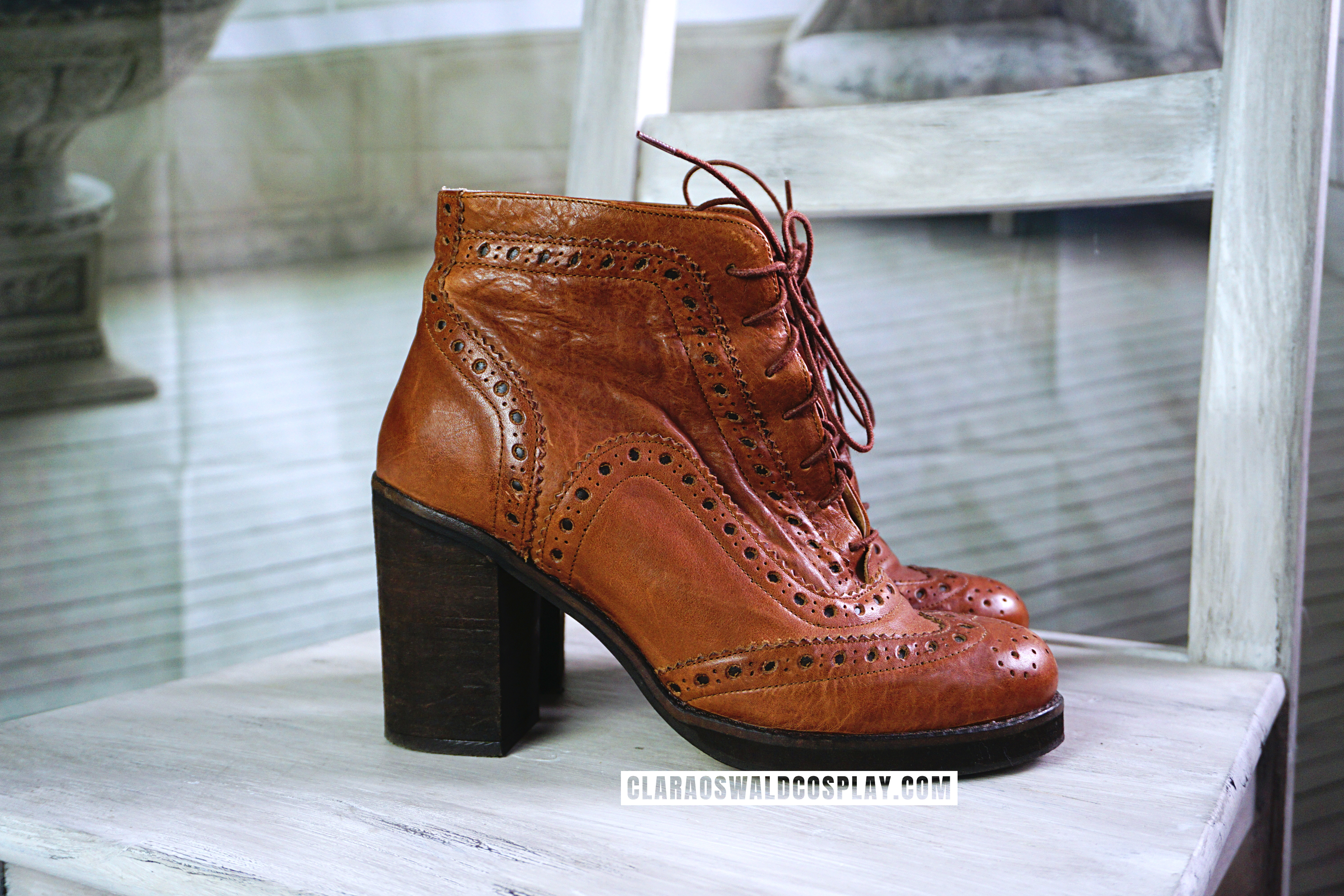 A closer look at the River Island Brogue Ankle Boots.