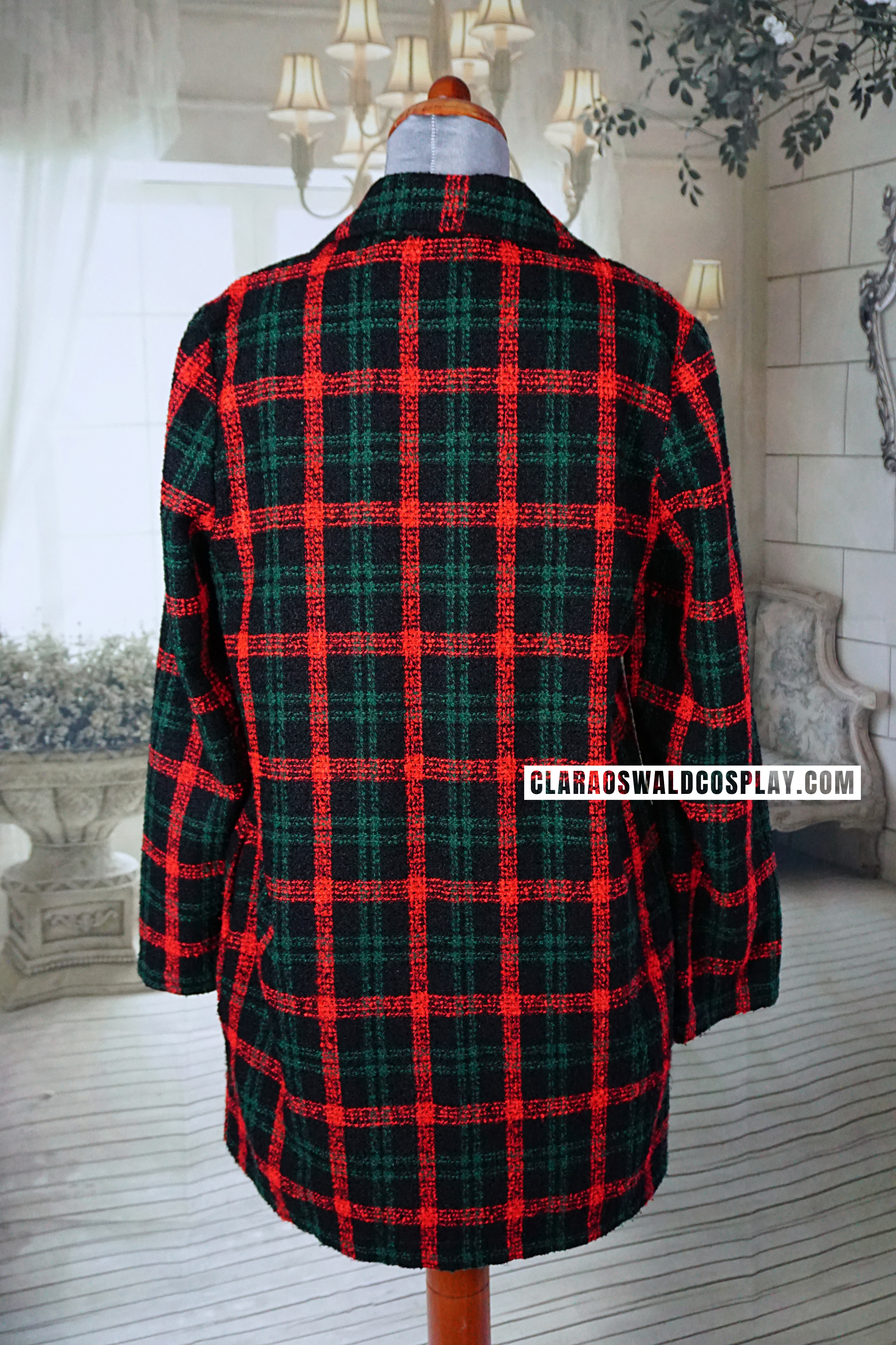 The ASOS Reclaimed Vintage Check Coat - back view