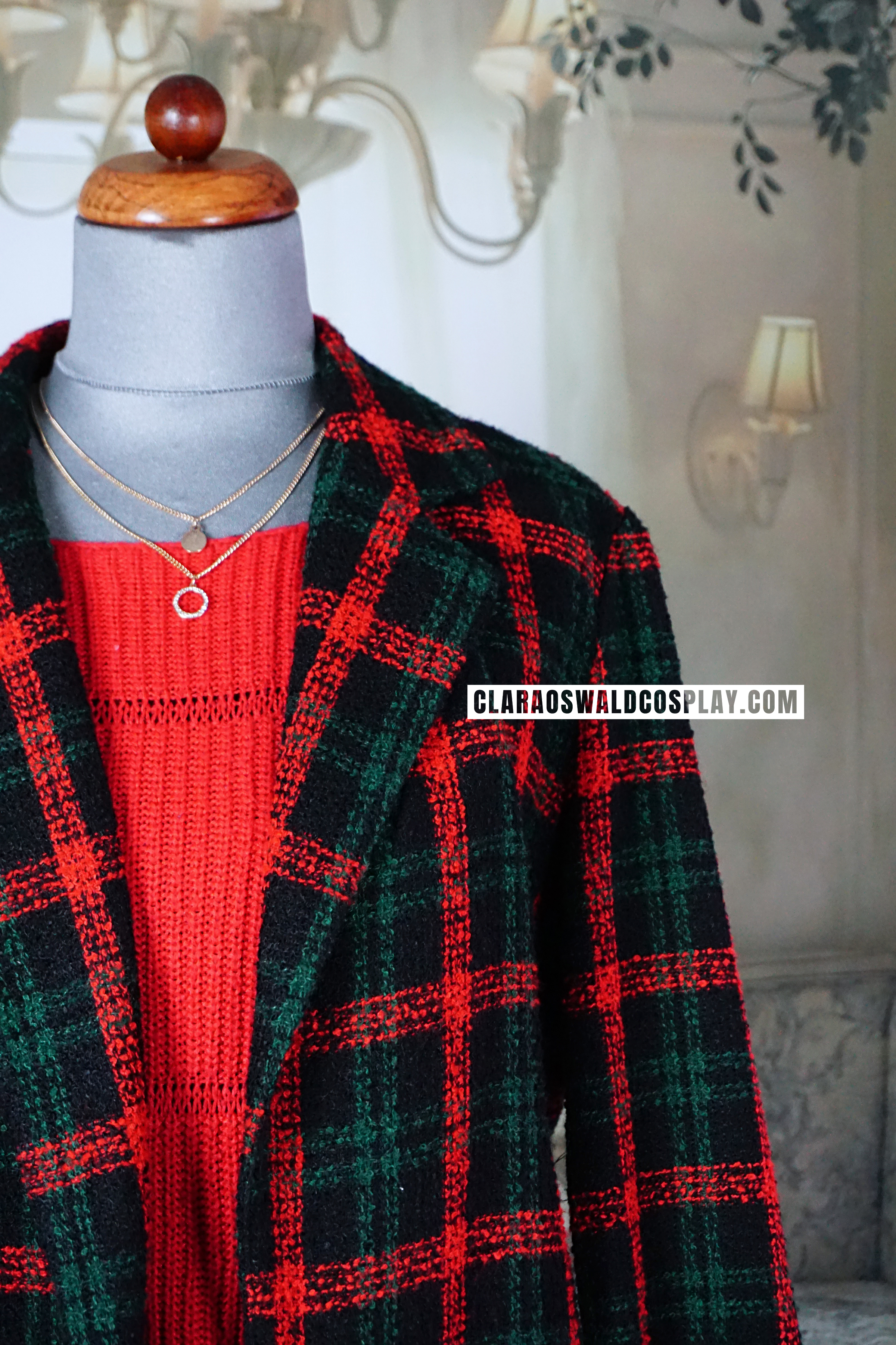 A detailed look at the ASOS Reclaimed Vintage Check Coat