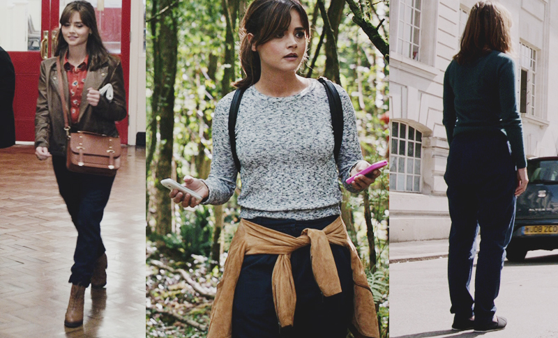 Clara Oswald wore the ASOS Just Female Trousers in Into The Dalek, In The Forest Of The Night and Dark Water