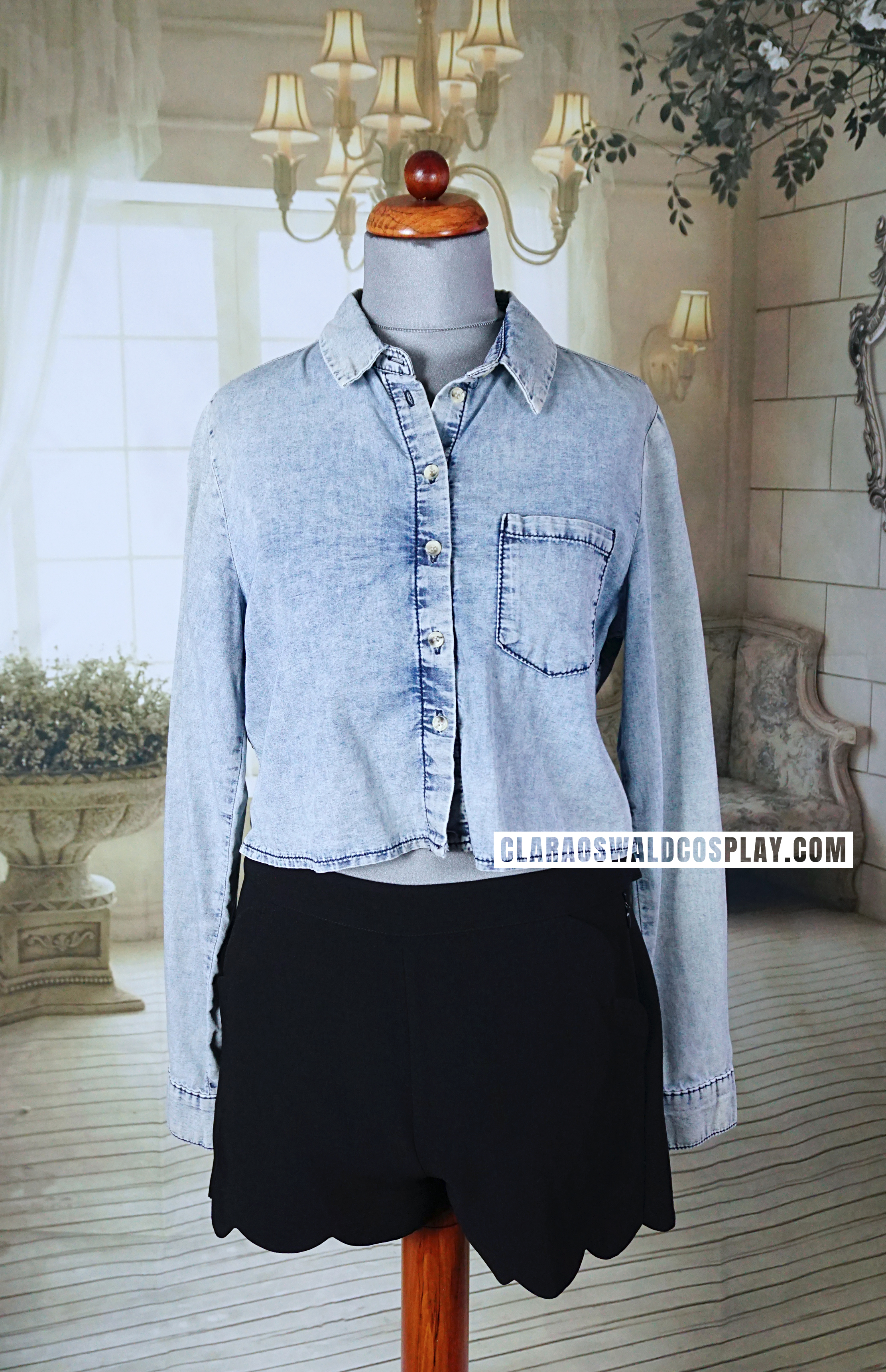 9c736f7f Clara Oswald's Topshop Crop Moto Acid Denim Shirt was worn in a brief scene  in Time