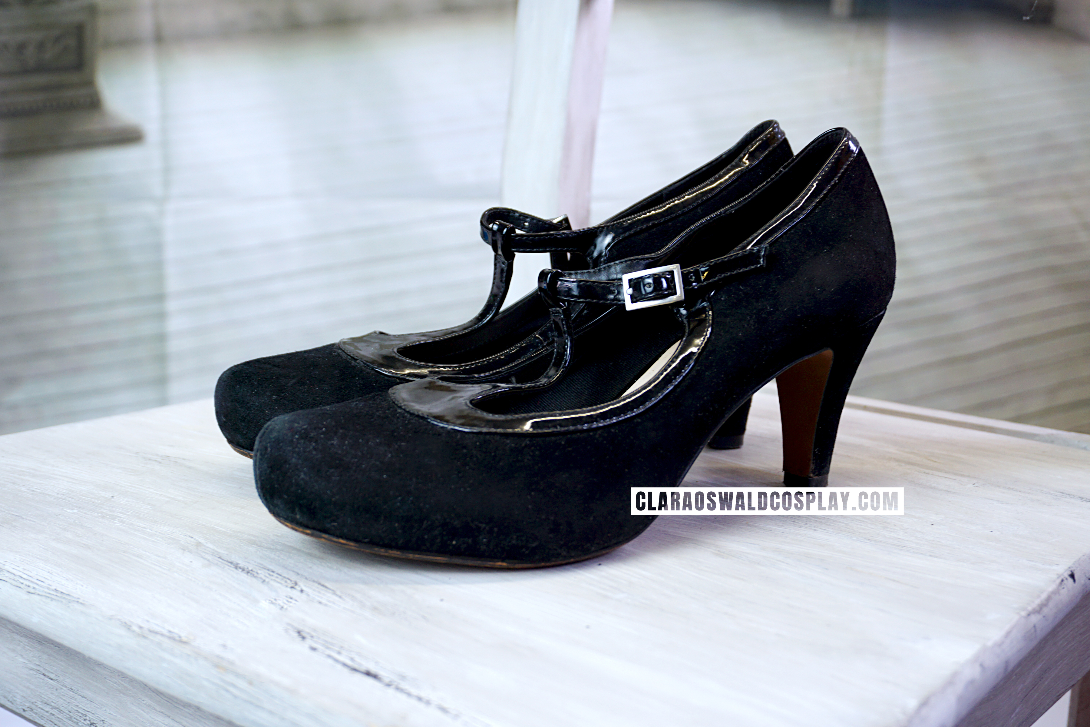 Clara Oswald's Clarks Chorus Thrill Shoes in black as worn in Mummy on the Orient Express