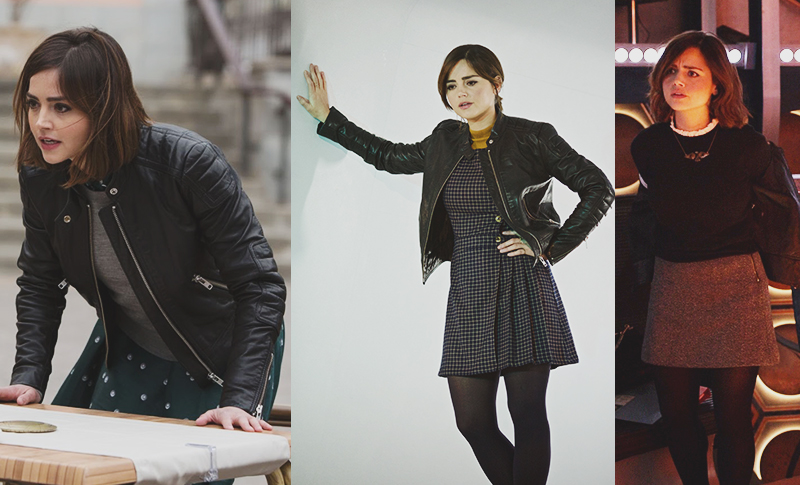 Clara Oswald's &Other Stories Leather Jacket was featured in several S9 episodes