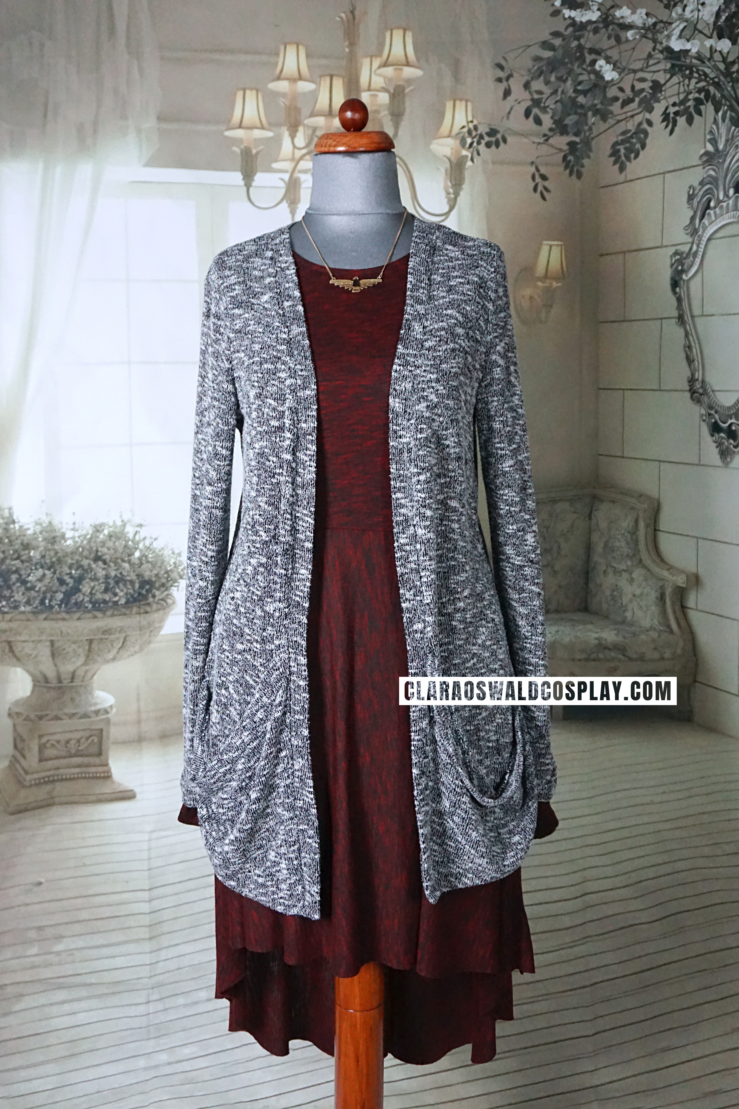 The grey version of the Urban Outfitters Sparkle & Fade Cardigan featured in Bells of Saint John