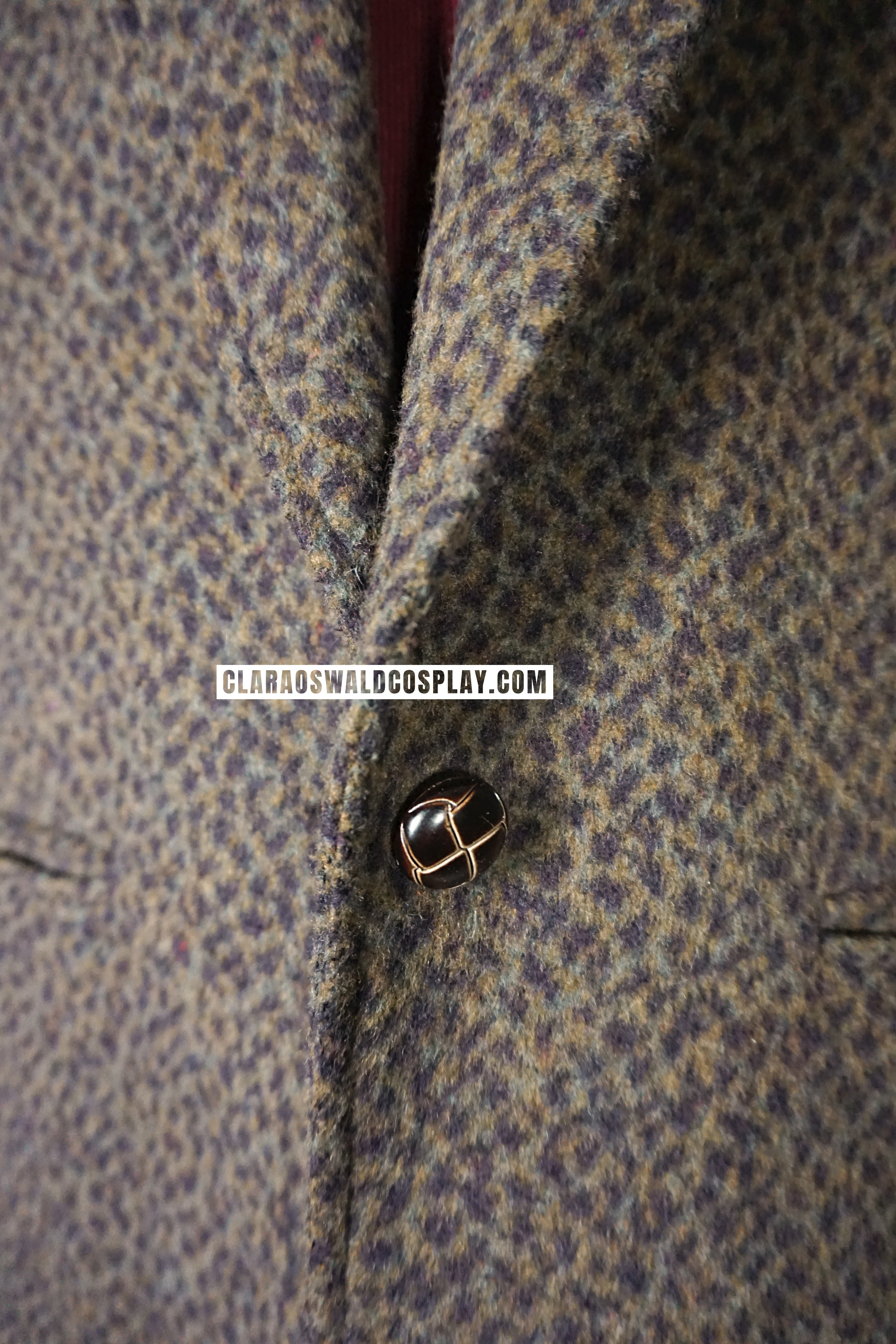 The Miss Patina Wiltshire Jacket closes with a single button