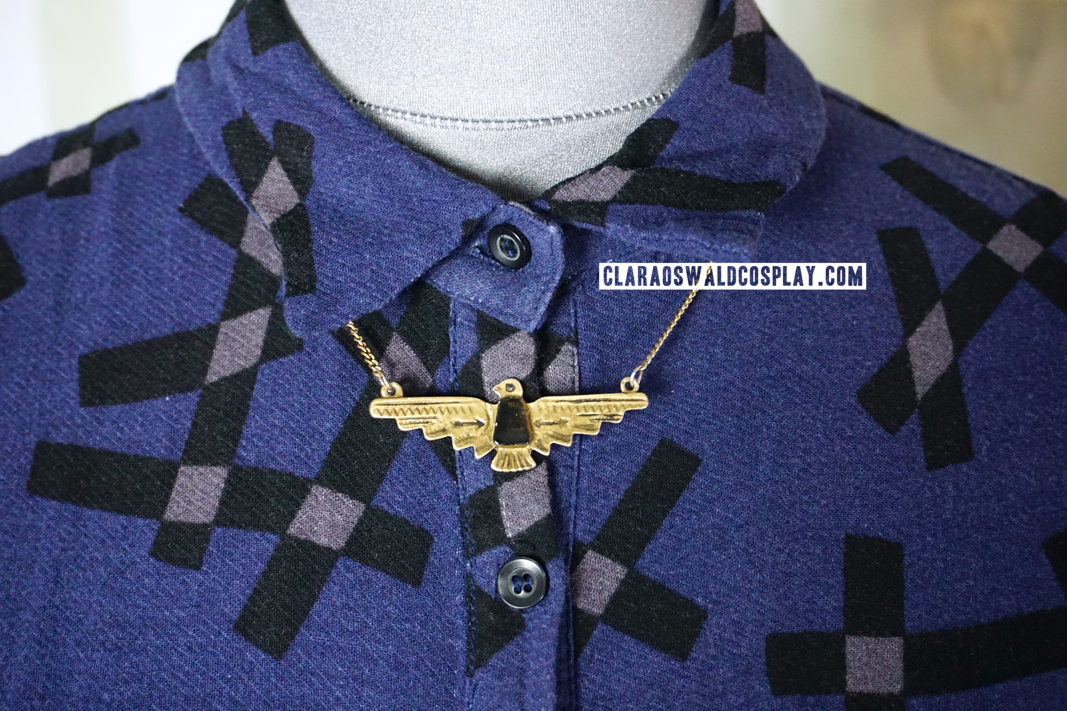 The Urban Outfitters Aztec Eagle Necklace also goes with the Rings of Akhaten outfit
