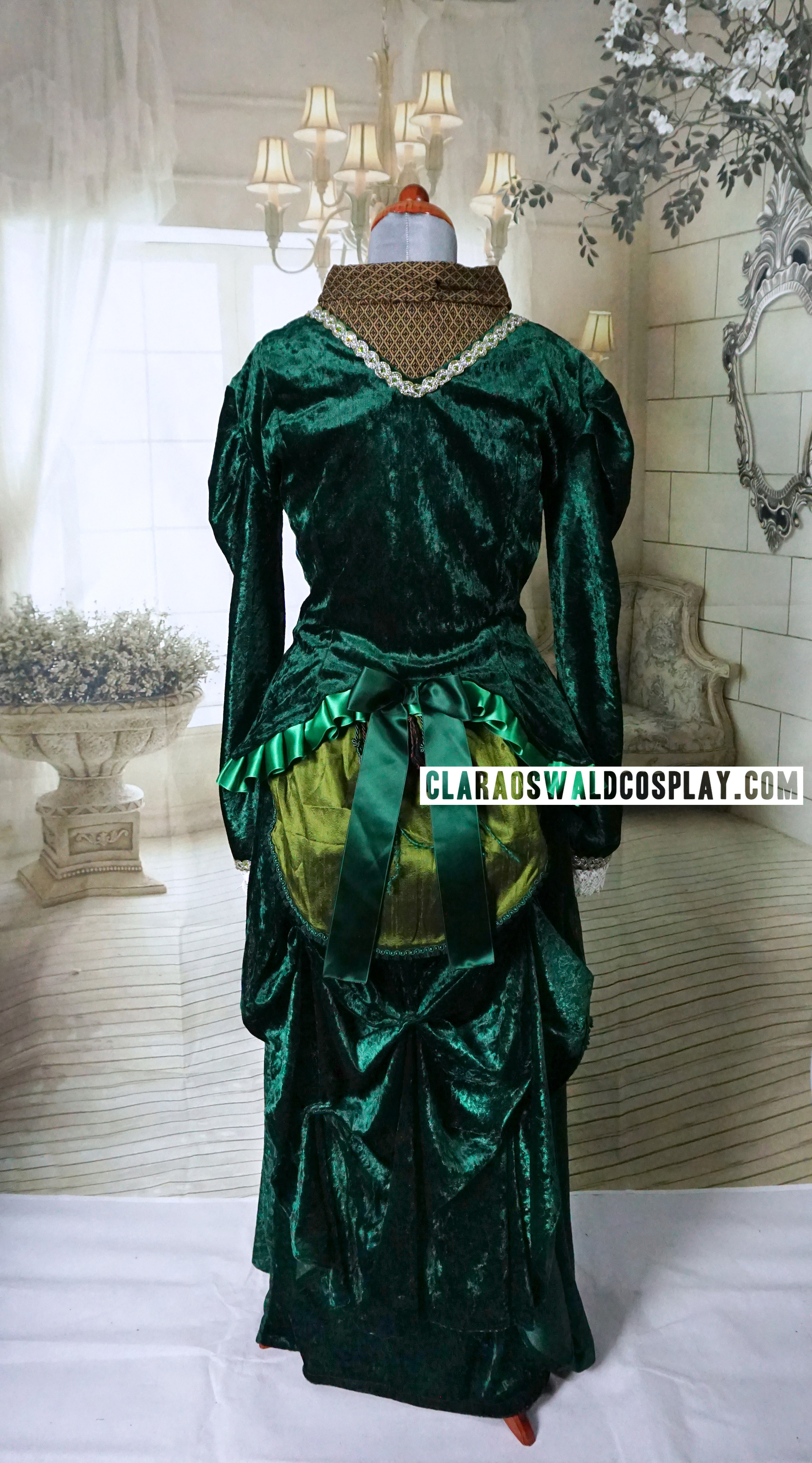 Back view of my custom made Victorian Dress from Deep Breath