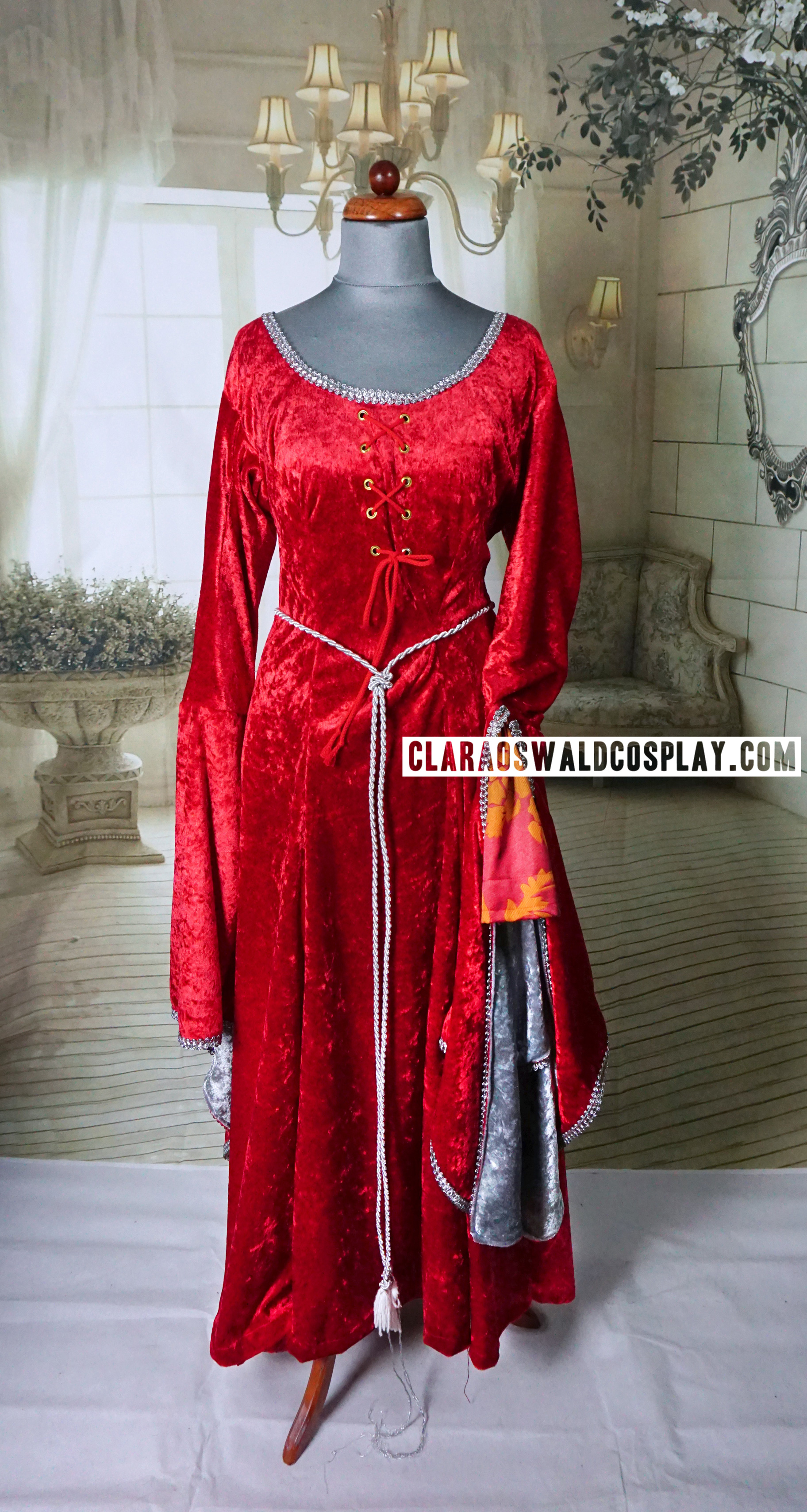 An affordable version of Clara Oswald's Robot of Sherwood custom made medieval dress