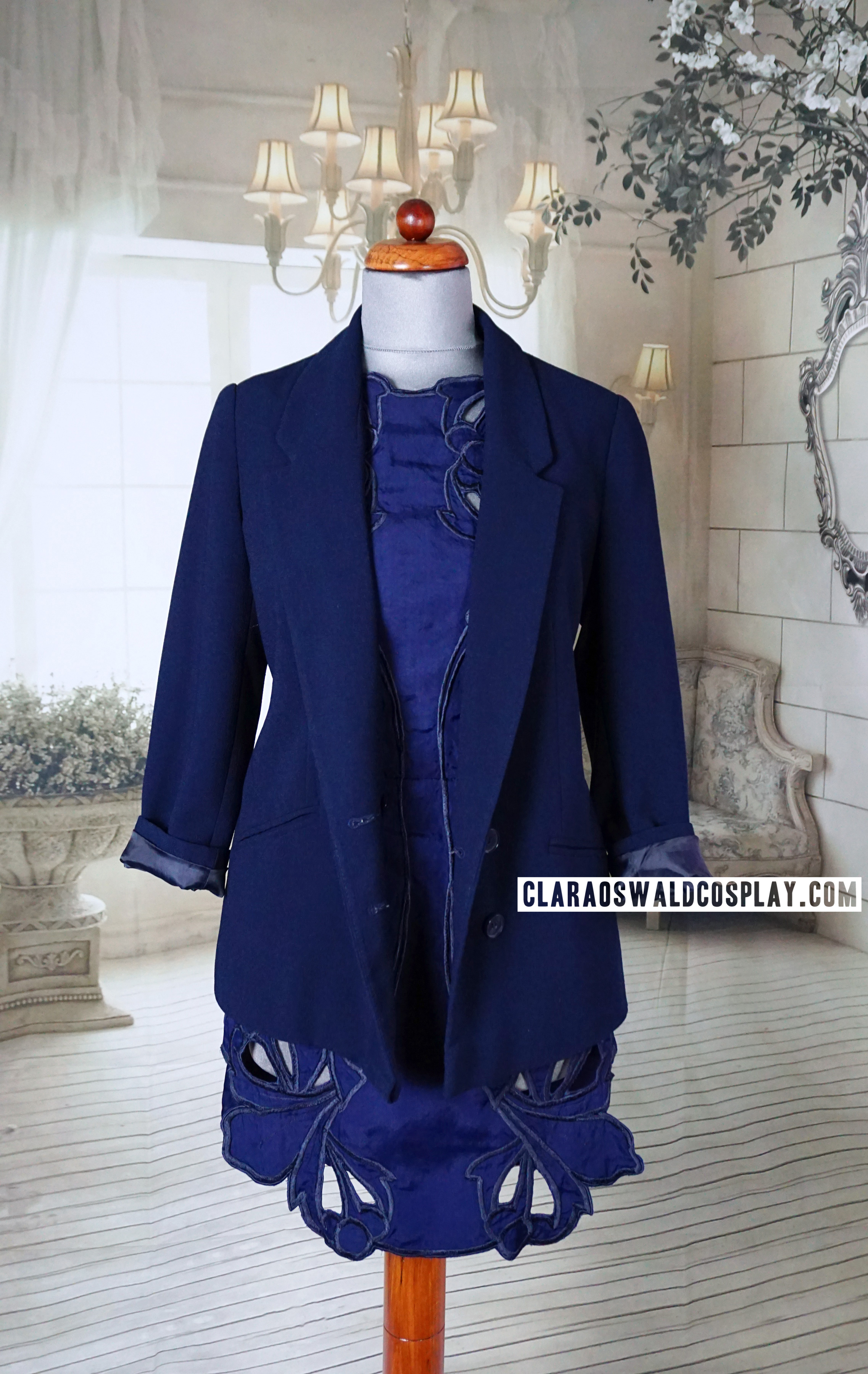 Clara Oswald's Listen outfit featuring the Alice McCall Sea Rose Dress and Urban Outfitters Pins & Needles Double Breasted Blazer