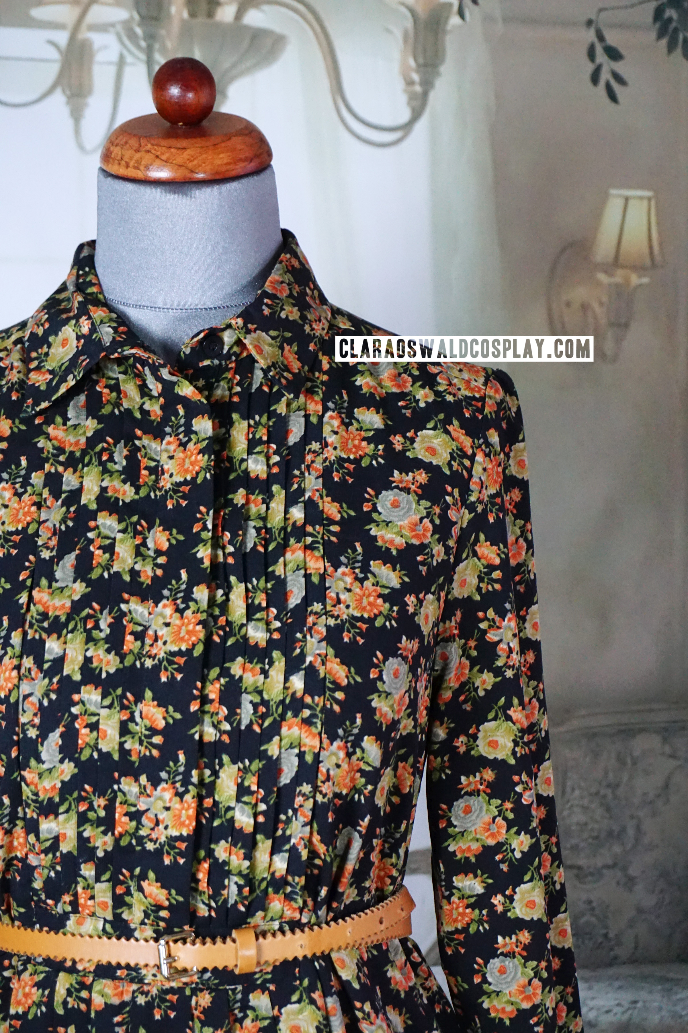 A closer look at the floral pattern of the ASOS Floral Dress