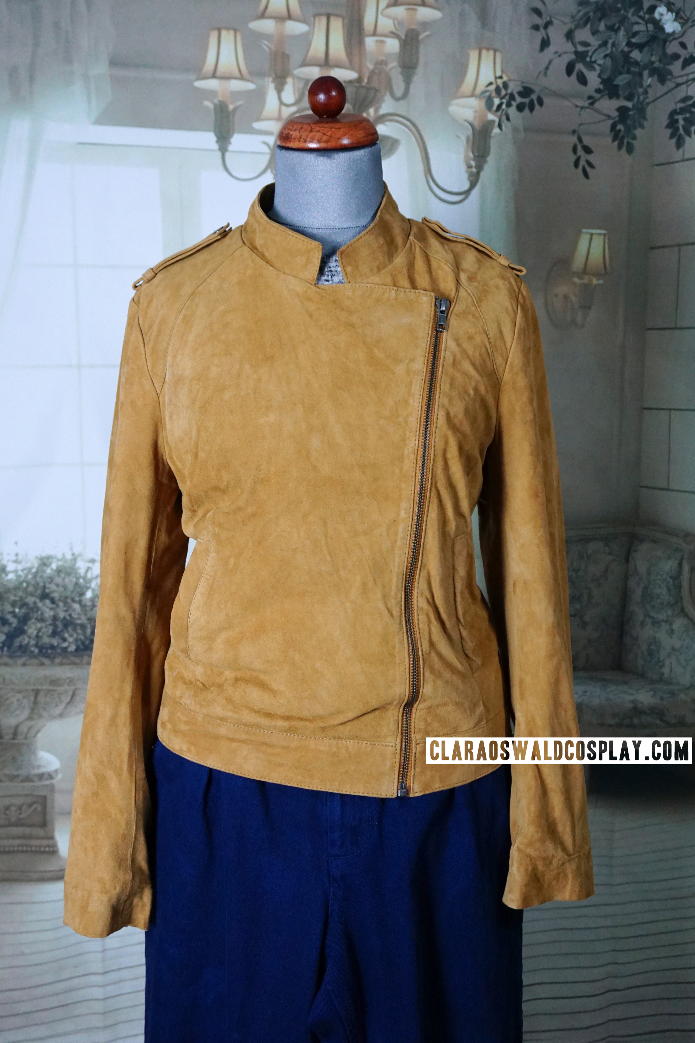 Clara Oswald's Y.A.S. Rosie Suede Jacket zipped up
