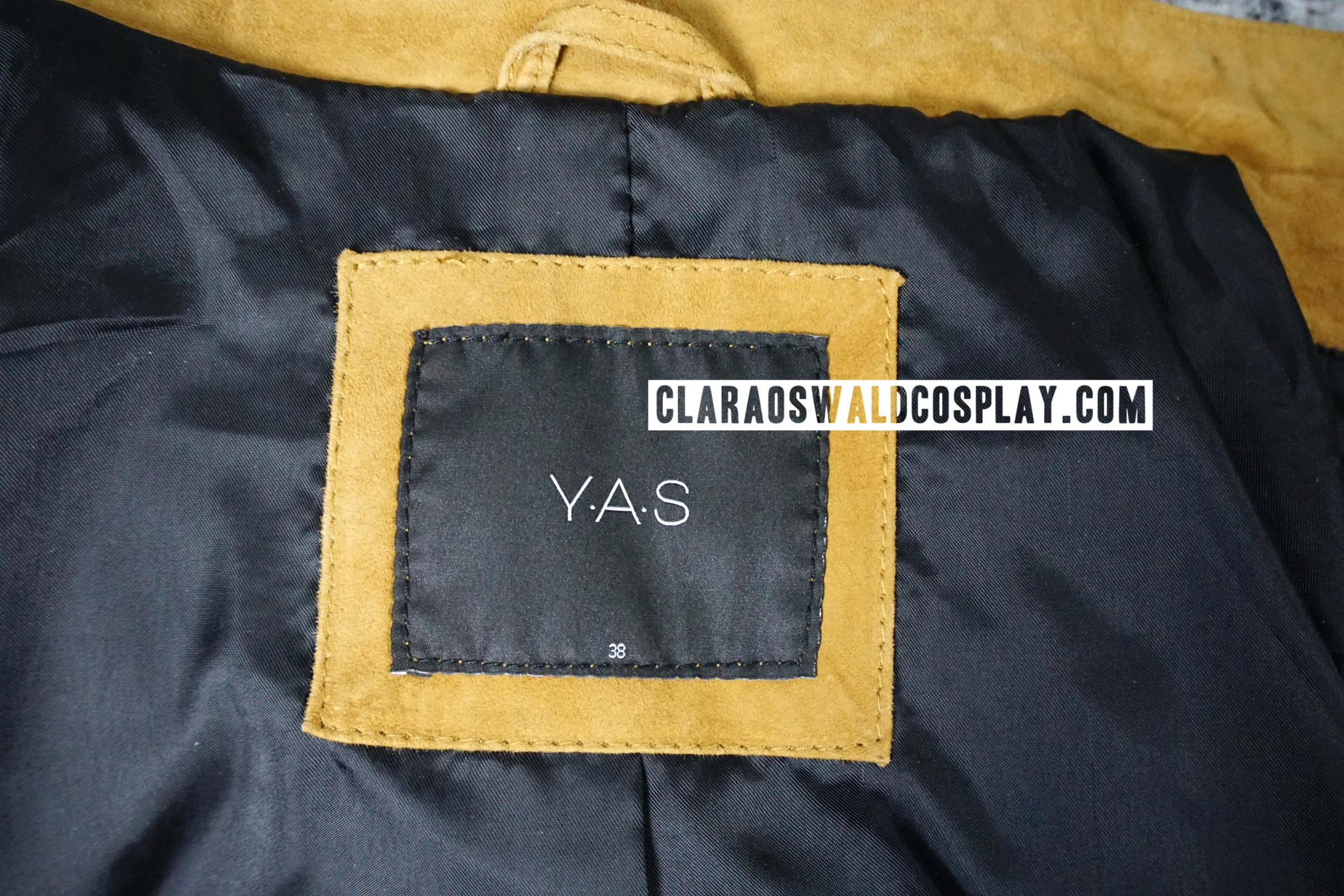 A closer look at the label which is also a way of telling whether you're looking at the SA jacket