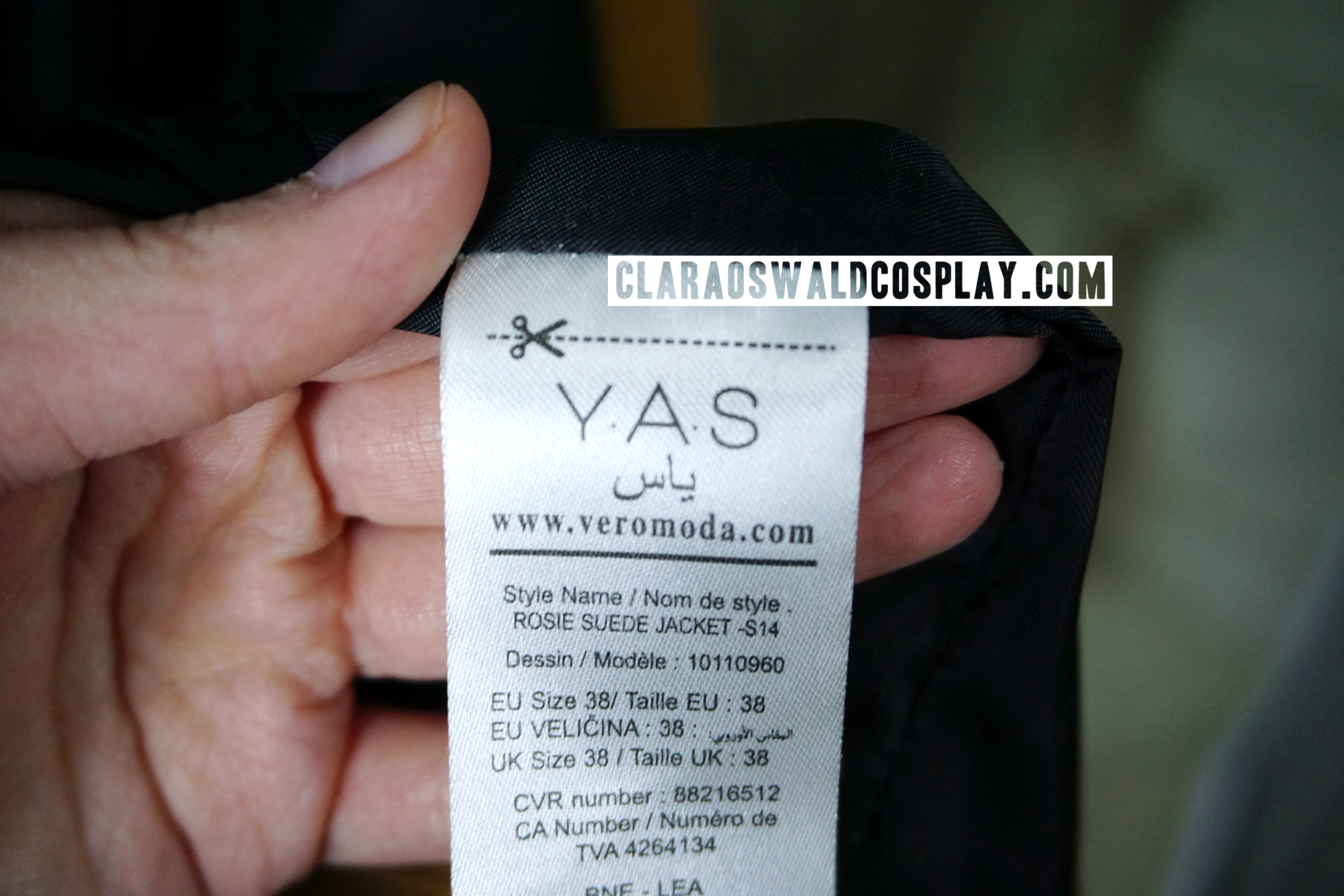 The Y.A.S. jacket was sold by Vero Moda