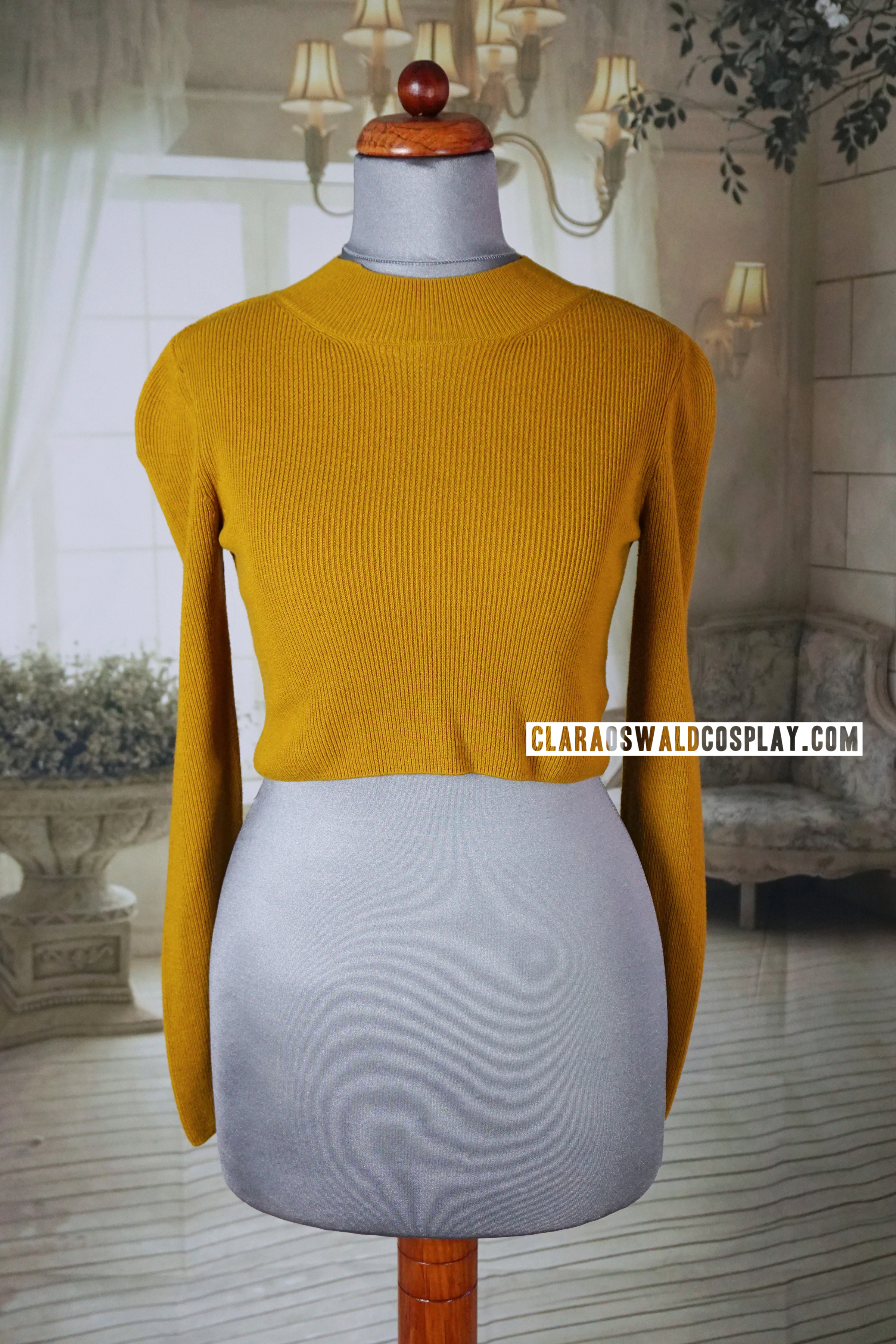 Clara Oswald's Topshop Mustard Crop Jumper that she wore in Under the Lake / Before the Flood