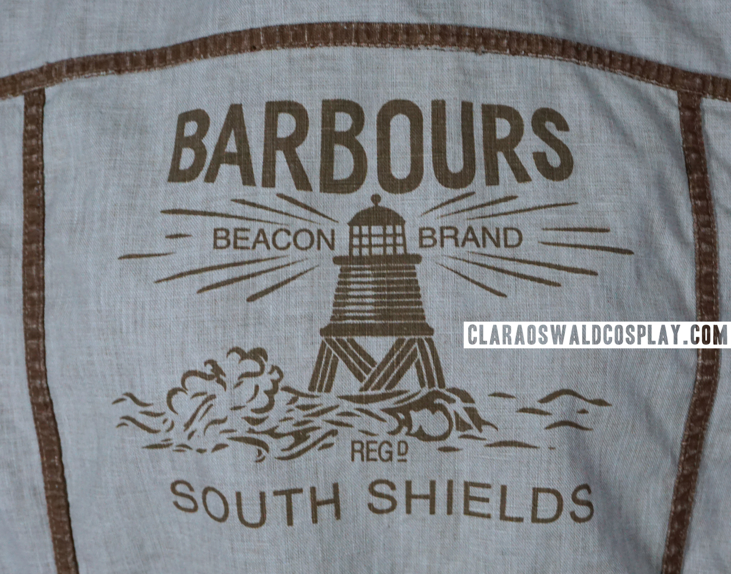 The inside of the jacket also has this particular Barbour logo