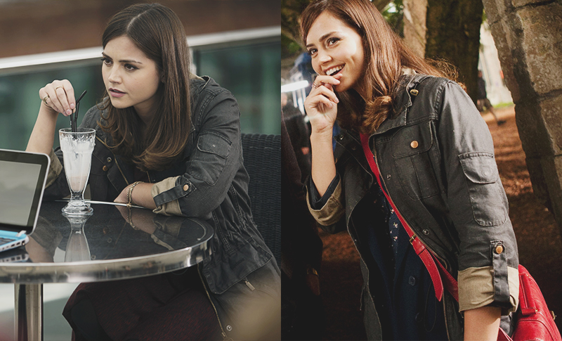 Clara Oswald's Barbour Vintage Duralinen Force Parka as seen in Bells of Saint John and Hide