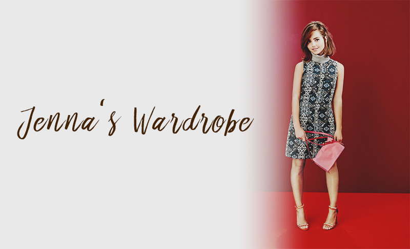 Jenna Coleman's Stylist Magazine photoshoot featuring the New Look Abstract Print Zip Front Sleeveless Dress